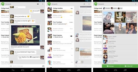 what is hangouts on android announce integrated chat app hangouts