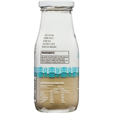 coco vanilla cor de coco coconut vanilla latte 280ml woolworths