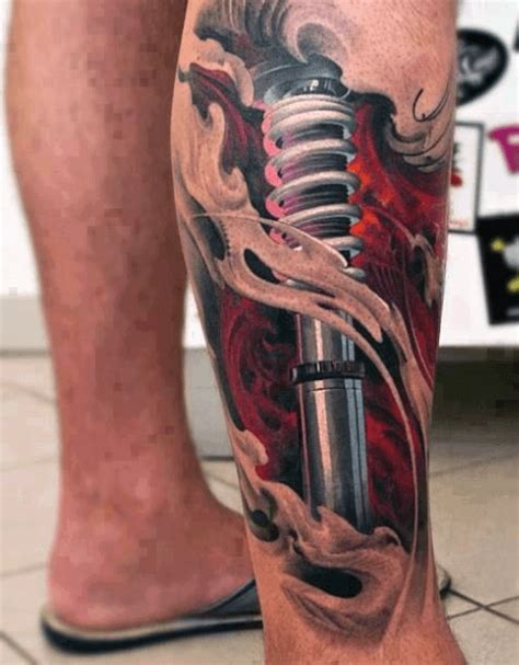 3d tattoo on leg 80 3d tattoos for men three dimensional illusion ink