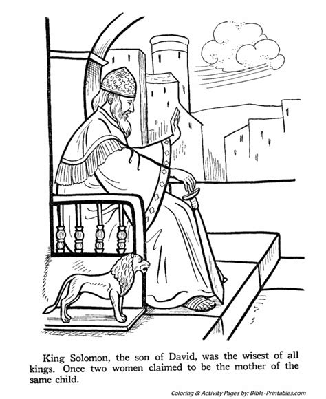 fair king solomon coloring pages coloring for funny solomon builds wise king solomon old testament coloring pages bible
