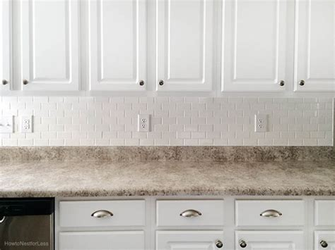 white tile backsplash kitchen how to install a kitchen backsplash the best and easiest
