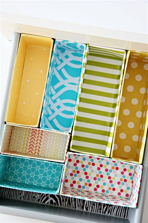 Cereal Box Drawer Organizer by October Afternoon Workspace Wednesday Organizing On A Dime
