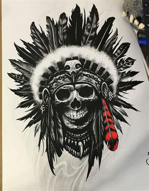 indian skull tattoo designs tattoos and drawings