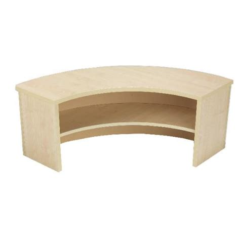 Jemini Intro 90 Degree Corner Desk Riser Warm Maple Corner Desk Riser