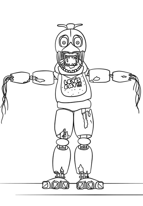 Fnaf 1 Coloring Pages by Chica Five Nights At Freddys Free Colouring Pages