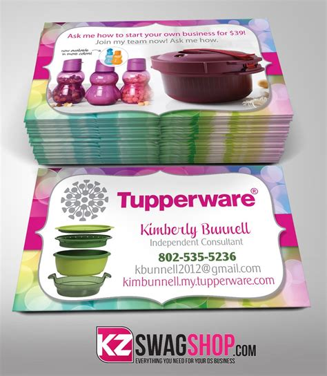 free tupperware business cards template tupperware business cards free resume sles writing