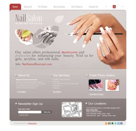 Nail Websites by Nail Salon Website Template 27172