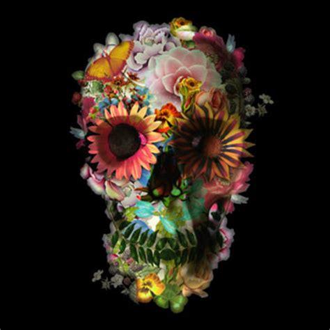 Flower Skull pin skull flower on