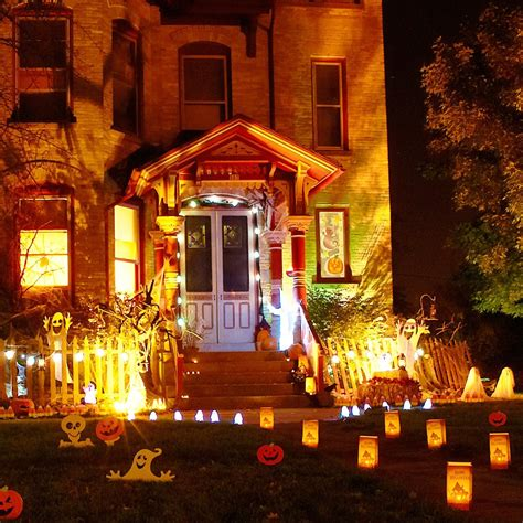 light up halloween decorations creative halloween decorations lights for night