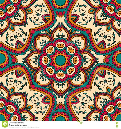 Seamless Pattern Vintage Decorative Elements Hand Drawn Ottoman Motifs
