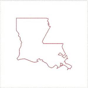 La Outline by Louisiana La Outline And Us United States Embroidery