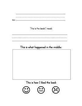 Book Report Worksheet For Kindergarteners by Kindergarten Book Report By Learn Los Angeles Teachers