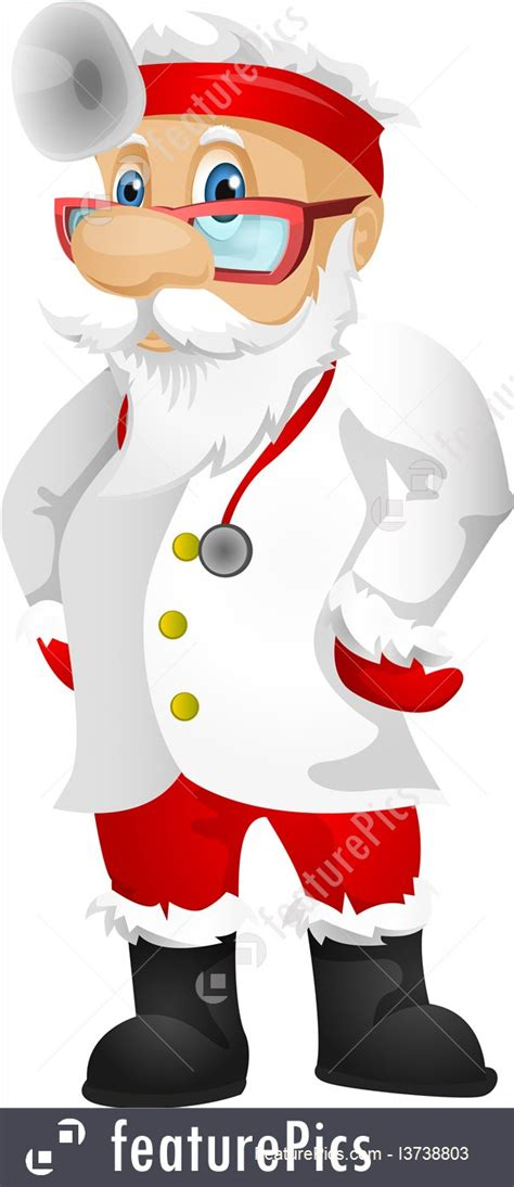 illustration  santa claus doctor