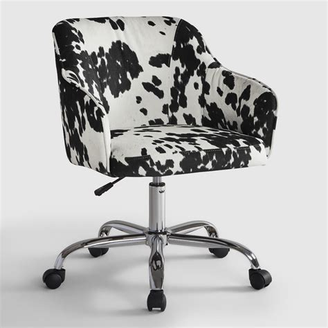 Cow Print Chair by Udder Madness Cow Print Velvet Jozy Home Office Chair