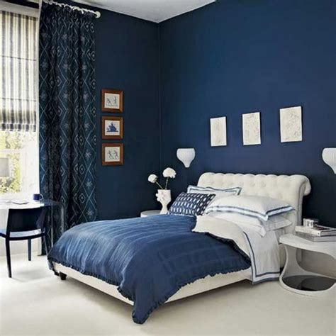 blue color bedroom walls living room interior lighting architecture bedroom