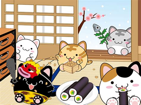 wallpaper japanese cat traditional japanese wallpapers with cats kao ani com