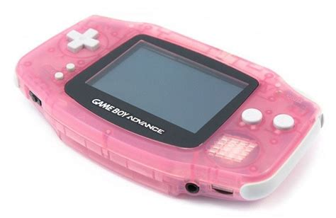 gba console gameboy advance konsole pink rosa clear kaufen