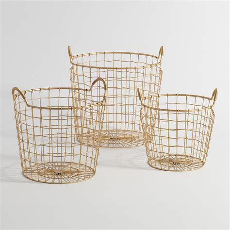gold wire basket gold wire antonia baskets world market
