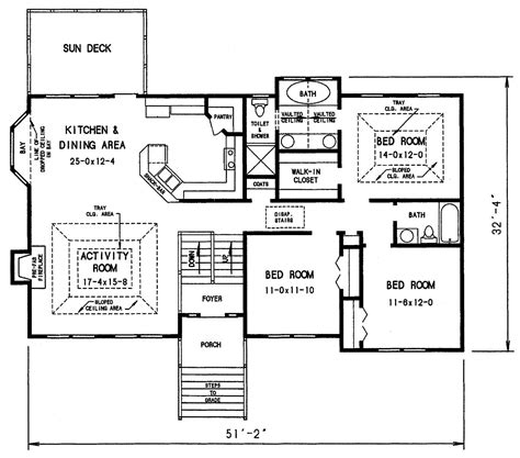 Split Level Ranch Floor Plans The Dahlonega 3303 3 Bedrooms And 2 Baths The House Designers