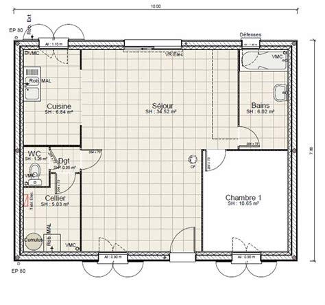 Charmant Salle De Bain De 5m2 #1: Photo-decoration-salle-de-bain-5m2-plan-3.jpg