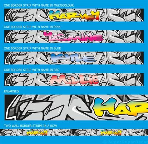 graffiti wallpaper border graffiti style wall border personalised bedroom strips