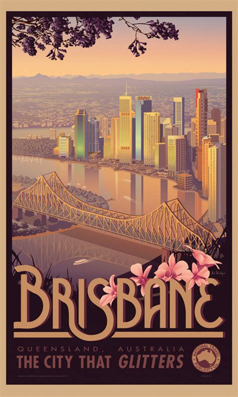 Home Styles Contemporary by Brisbane Australian Vintage Retro Travel Poster