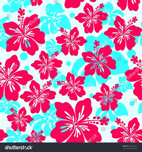 hawaii floral pattern vector seamless pattern hibiscus flower seamless hibiscus stock
