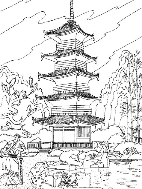 chinese garden coloring pages malbuch fur erwachsene china asia 10 china und asien