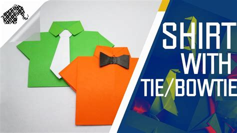 How To Make A Paper Tie That You Can Wear - origami how to make shirt with tie bowtie