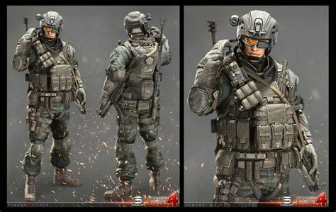 Kaos Call Of Duty 2 Seven 25 most beautiful 3d models and character designs
