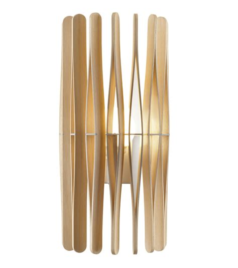 stick on wood wall stick wall light natural wood by fabbian