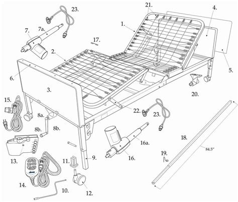 bed parts invacare hospital bed assembly new how to assemble a