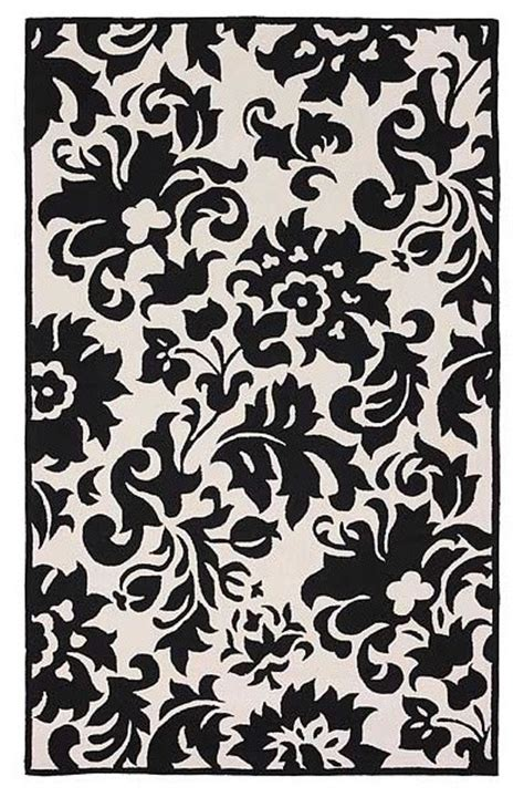 Modern Black And White Rugs Accents Black White Feather Rug Modern Rugs By Rugs On The Web