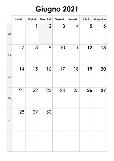 calendario giugno  calendariosu