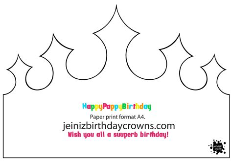 Birthday Crown Template happypappybirthday