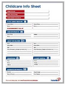 Daycare Information Sheet Template by This Free Is A Great Tool To Communicate With