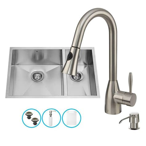 Undermount Sink Faucet by Vigo Stainless Steel Undermount Kitchen Sink Faucet And