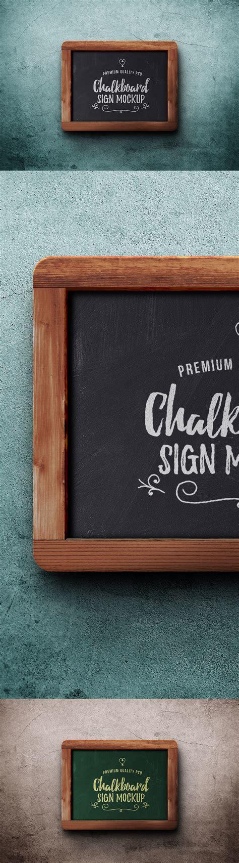 chalkboard sign psd mockup cloverdesain