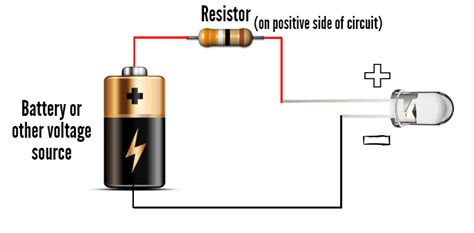 how does a resistor and led and a pcb work together how does a 5mm led work ledsupply