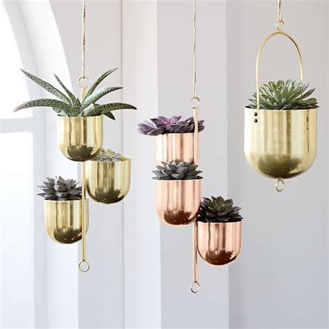 hanging metal planters west elm