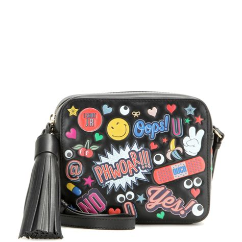 Get Look Bid On Johannsons Anya Hindmarch Bag by Anya Hindmarch All Stickers Crossbody Bag In Black