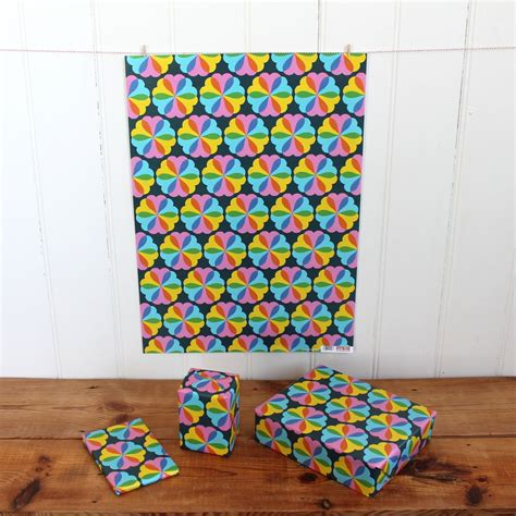 Rescued Paper Pads From Sukie by Sukie Wrapping Paper Hearts And Flowers Design
