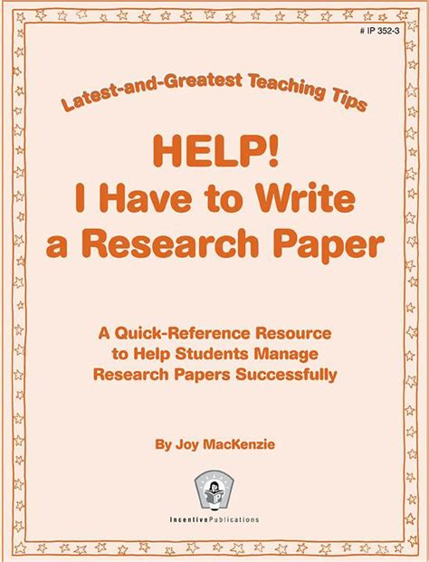how to teach writing a research paper help i to write a research paper and