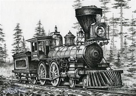 the age of steam drawing by james williamson