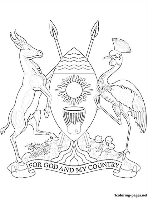 coloring page uganda flag uganda coat of arms coloring page coloring pages