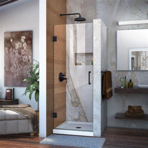 24 inch shower door dreamline unidoor 24 in x 72 in frameless hinged shower