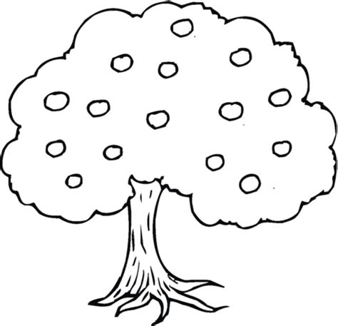 Apple Tree Coloring Page Supercoloring Com Apple Tree Coloring Page