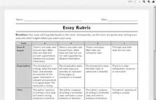 Five Paragraph Essay Rubric Middle School by Argumentative Essay Rubric Middle School