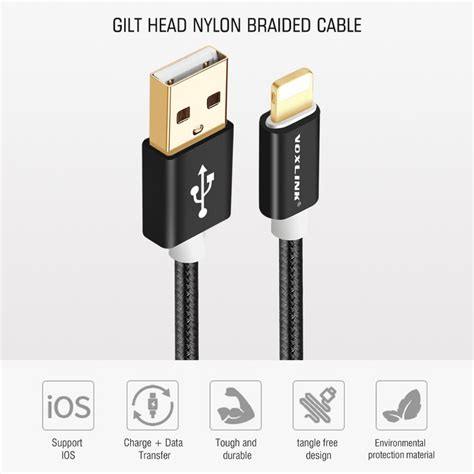Lightning Cable Gold Plated Voxlink voxlink 8pin to usb cable fast charger adapter original