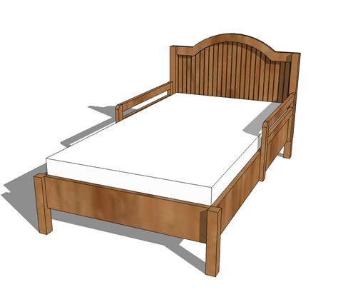 bed plans pdf diy wood plans toddler bed download wood projects